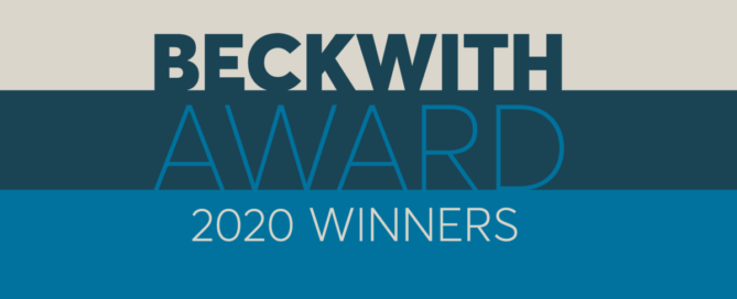 2020 Beckwith Award Winners Banner Image