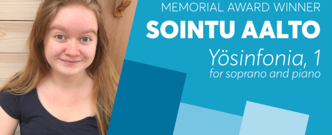 Louise MacPherson Memorial Award Winner Sointu Aalto